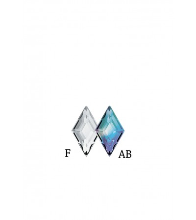 Swarovski Diamond Shape Crystal F & AB