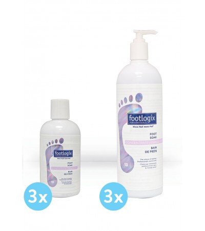 Foot Soak 3x250ml ou 3x1L